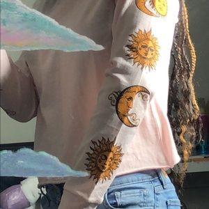 Sun & Moon Cropped Long Sleeve